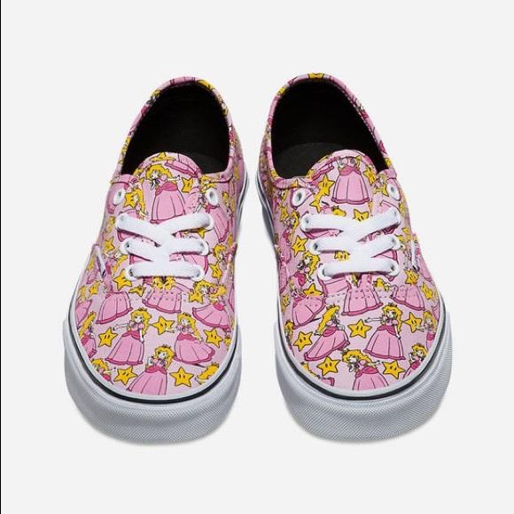 princess peach vans shoes